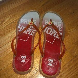Phillies XL Size 11 Woman's Flip Flops